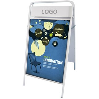 EXPO SIGN Kundenstopper 22mm 50x70cm OT weiss