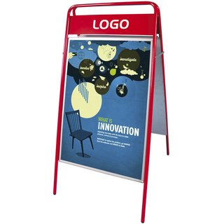 EXPO SIGN Kundenstopper 22mm 50x70cm OT Rot