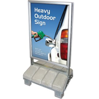 Heavy Outdoor Sign 85x120 cm.  42 mm, Security Profil
