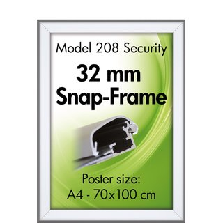 SECURITY FRAME 32mm (G) 70x100cm alu
