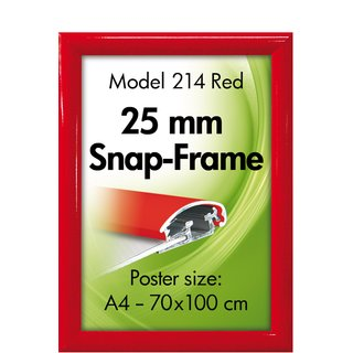 ALU SNAP-FRAME 25mm (G) A4 RAL3020
