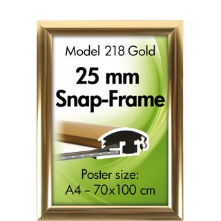 ALU SNAP FRAME 25mm (G) A3 golden anodized - glänzend