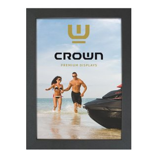 Crown Snap Frame 33 mm (G), 70x100cm, Schwarz