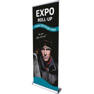 Expo Roll-up, Einseitig Model 120cm - alu.   (New Size 120cm)