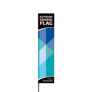 Outdoor Square Flag - Medium -