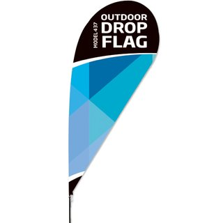 Outdoor Drop Flag - Large -