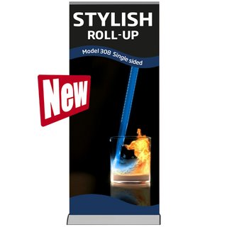 Stylish Roll-Up. Einseitig Model 85 - alu