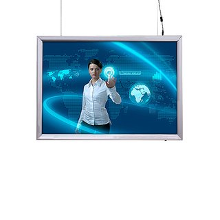 LED Light box 70x100cm Double sided - horizontal. 35mm Rahme Profil, 39mm Tief