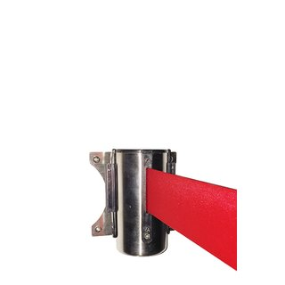 Crowd control belt dispenser wall, red