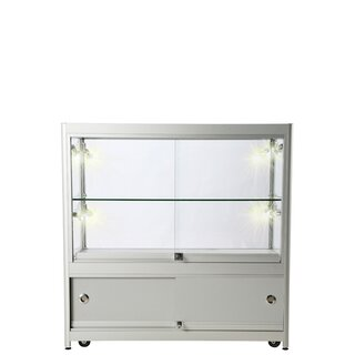 Showcase Counter, Duo, mit Schrank - Silber. LED