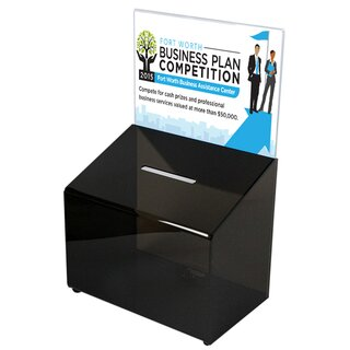Tip Box Black with Info Holder A4